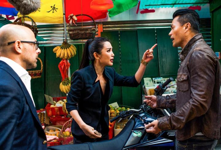 Li Bingbing em 'Transformers - A era da extinção'; ela também participou de 'Resident evil 5- Retribuição' (Foto- Divulgação)